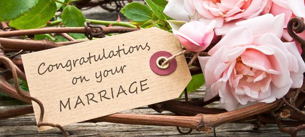Al Brooks Wedding Congratulations Tag