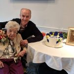 Al celebrating Mom's 104th birthday!