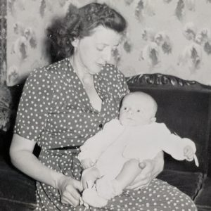 Mom with 2-month old Al 1952