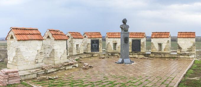 Baron von Munchausen monument in Bender, Transnistria, Moldova