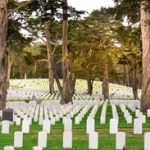 Gravestones in a USA National Cemetery