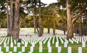 Gravestones in USA National Cemetery