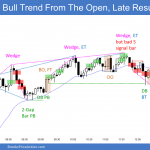 Emini bull trend from the open then trading range