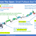 Bull Trend From The Open Small Pullback Bull Trend