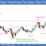 Emini bear trend from open then trading range