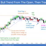 Emini bull trend from the open then trading range