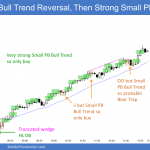 Emini wedge sell climax and then small pullback bull trend