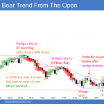 Emini bear trend from the open and wedge bottom