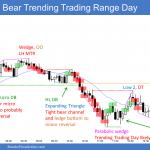 Emini bear trending trading range day