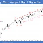Emini Weekly Chart Micro Wedge and High 2 Signal Bar