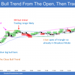 Emini small pullback bull trend from the open and outside up day